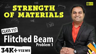 Flitched Beam - Problem 1 - Stresses in Beams - Strength of Materials