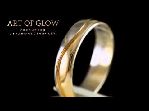 Красивые обручальные кольца, выполненные из золота, 585 пробы.