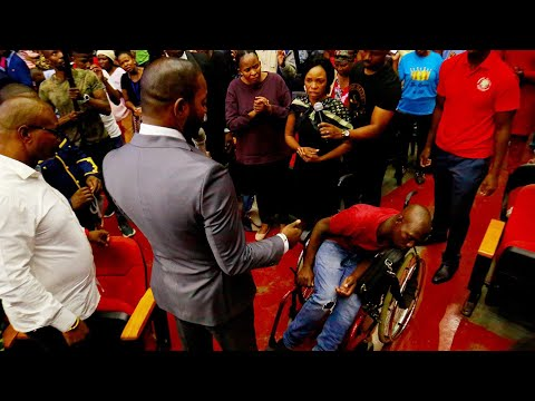 MUST WATCH: a wheelchair bound  man with a broken spinal cord INSTANTLY HEALED.
