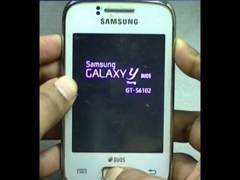 Hard reset Samsung Galaxy Y Duos GT S6102