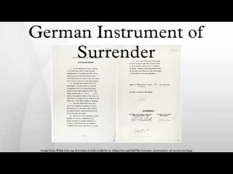 German Instrument of Surrender