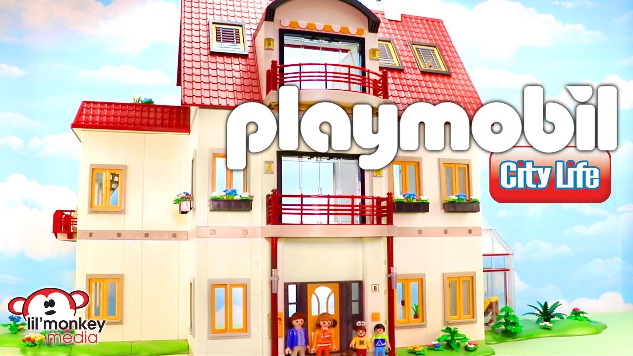 playmobil city life suburban house retro playmobil house. Black Bedroom Furniture Sets. Home Design Ideas