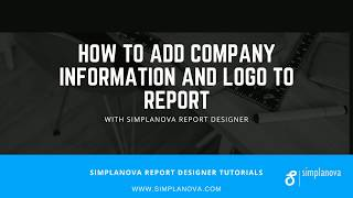 How to add Company Information and Logo to Dynamics NAV report