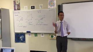 The Cosine Rule (1 of 2: Introduction & relation to Pythagoras' Theorem)
