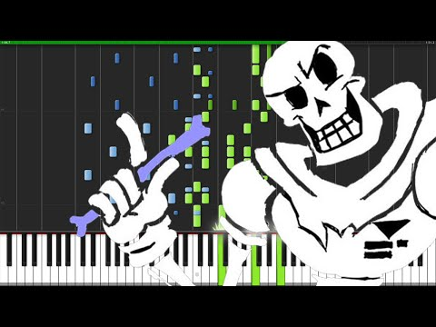 Bonetrousle - Undertale [Piano Tutorial] (Synthesia)