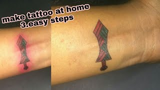 Learn How to draw a temporary tattoo step by step..
