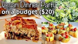 VEGAN DINNER PARTY FOR $20 (3 courses, 4 people)