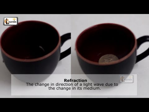 Refraction of light explained through cup water and coin - Science experiments for kids