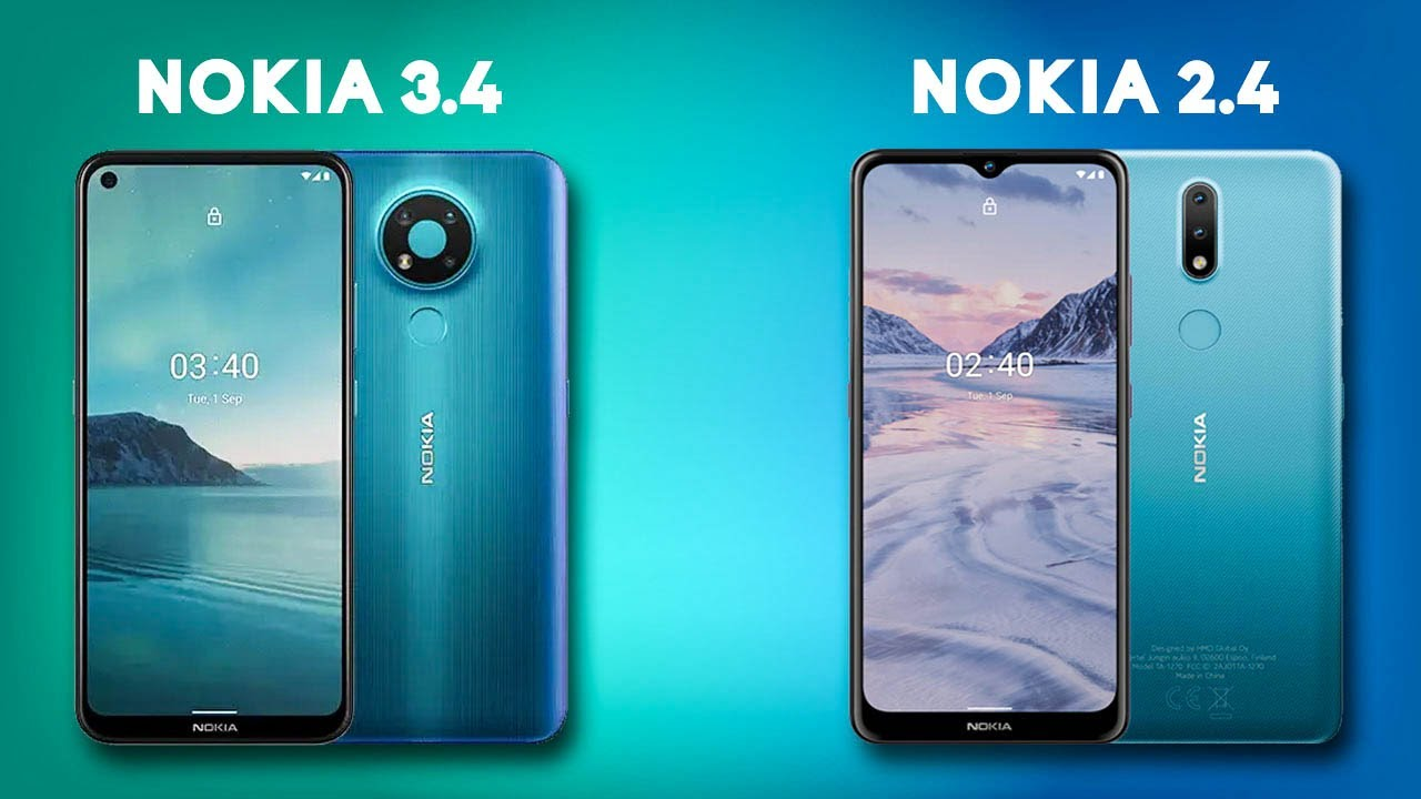 Nokia 2.4 and Nokia 3.4 - Full Specification and Price in India   Stock Android Smartphone   [हिंदी]
