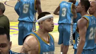 NBA 2K10 - Nuggets vs Lakers - Kobe Time