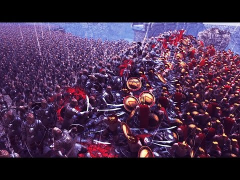 UEBS 20,000 Persians vs 300 Spartans Battle of Thermopylae - Ultimate Epic Battle Simulator