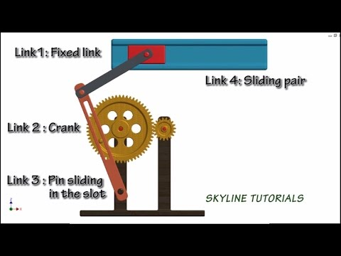 How Quick Return Mechanism Work! |Best 3D Animation| Crank & Slotted lever or Whitworth Mechanism|