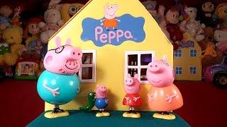 Новый домик Свинки Пеппы мультик из игрушек + обзор на русском