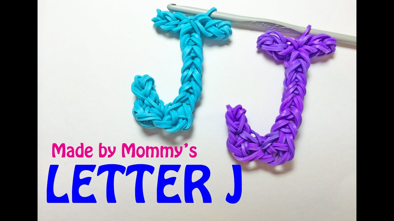 Rainbow Loom Letter J Charm Using Just The Hook Youtube