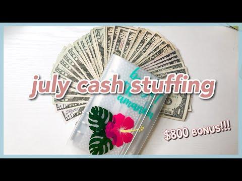 $800-july-cash-envelope-&-sinking-fund-stuffing- -bonus-check!- -dave-ramsey-inspired- -19-year-old