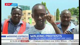 Walking Protests: Kwale residents start hiked fare protest