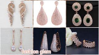 beautiful diamonds rose gold bridal earrings styles 2019
