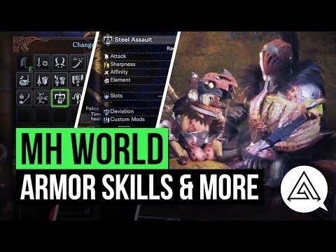 Monster Hunter World   NEW 1080p HD Gameplay Breakdown - Armor Skills, Anjanath Gear & More!