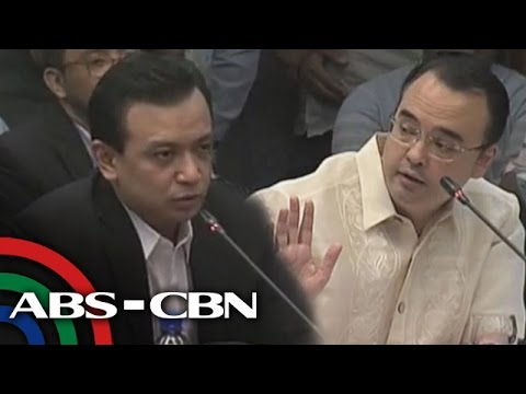 ����� ANC Live: Cayetano, Trillanes clash in Senate hearing