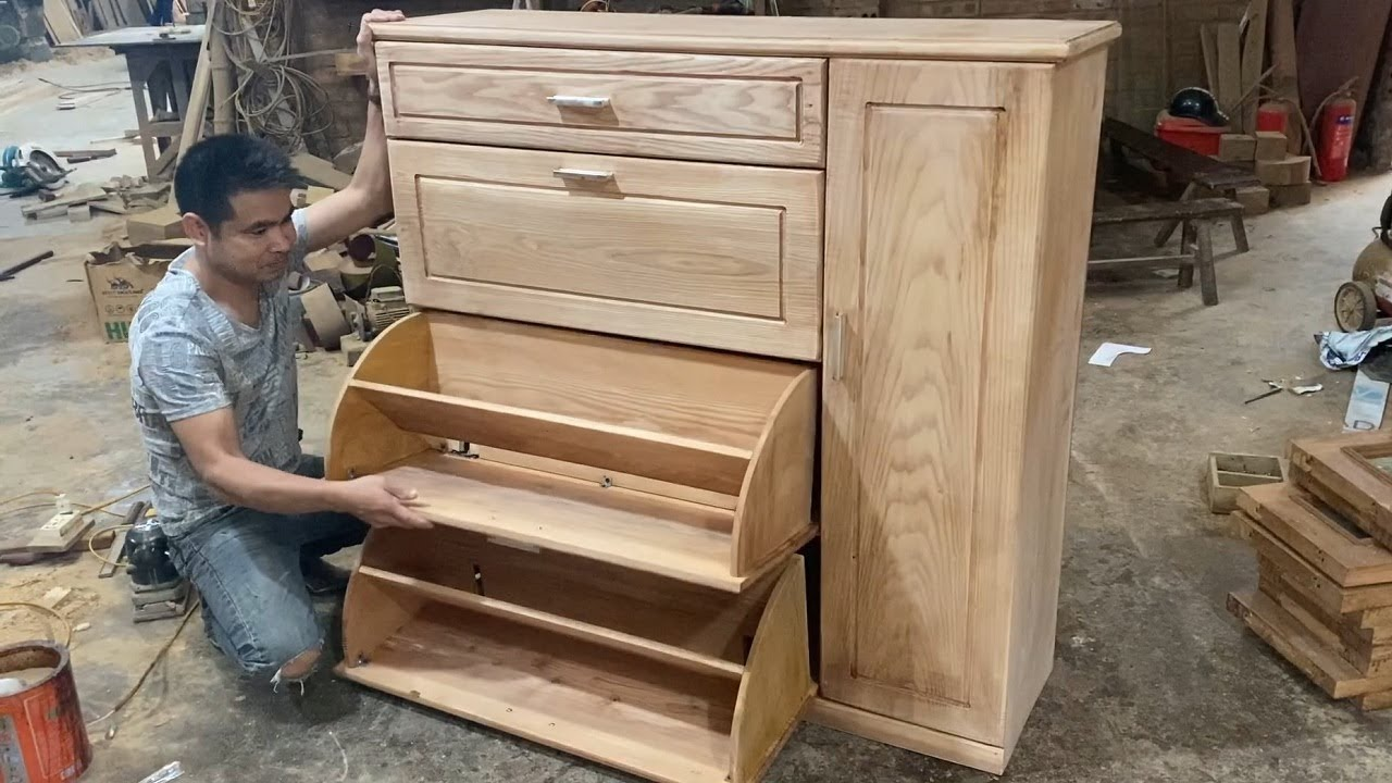 amazing project woodworking design ideas smart furniture - how to build a  modern smart shoe cabinet
