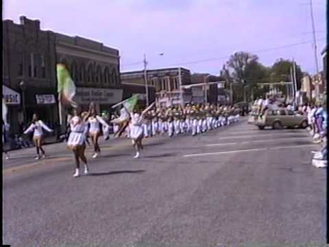 West Iredell High School Band of Warriors 1993 Dogwood Parade Part 1