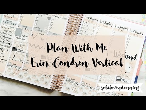 PLAN WITH ME | ERIN CONDREN NO WHITE SPACE SPREAD