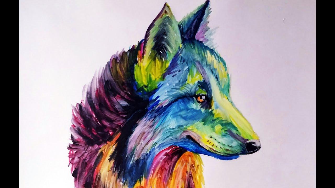 Cómo Dibujar Un Lobo Multicolor Color Explosion Review Pigment