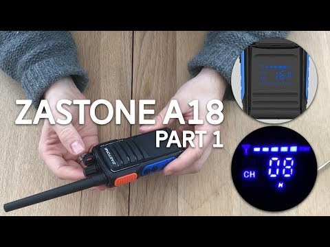 Zastone A18 Covert Display Radio Review Part 1 - Unboxing & Programming
