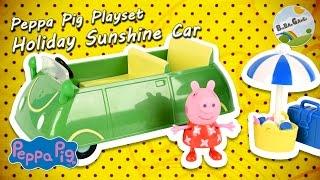 Peppa Pig · Holiday Sunshine Car (Green) Playset with Surprise by BigBAMGamer