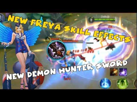 NEW FREYA SKILL EFFECTS | NEW DEMON HUNTER SWORD