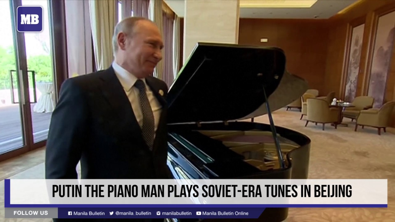 Putin the piano man plays Soviet-era tunes in Beijing
