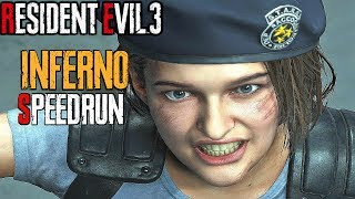 RESIDENT EVIL 3 Remake - Inferno Mode Speedrun World Record 00:57:47 (4K 60FPS) NG+