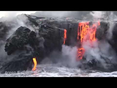 Вулканическая Лава Стекает