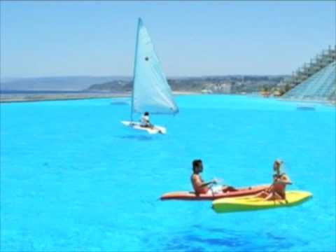 Worlds biggest swimming pool with facts youtube for Largest swimming pool in the us
