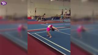 奧莉練體操輕鬆下腰 李小鵬自愧不如