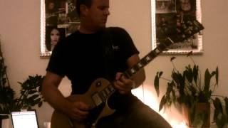 Phil Holmes playing a 80's rock guitar solo