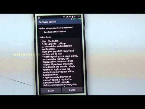 KITKAT 4.4.2 TO LOLLIPOP 5.0 OS UPDATE | SAMSUNG | GALAXY | NOTE 3 | SM-N9005