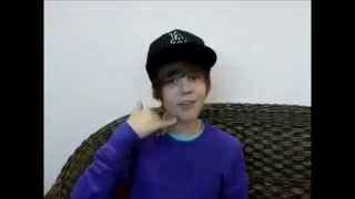 Justin Bieber singing One Time A Cappella 2009 | Interview J-14 Magazine