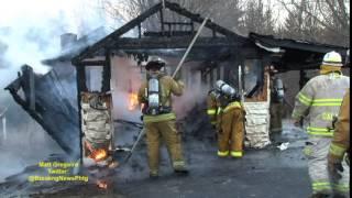 garage burns in Sutton, Ma