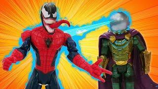 Видео с супергероями - Фабрика Героев против Венома и Мистерио! - Игры онлайн для мальчиков