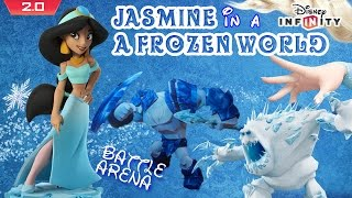 Jasmine in A Frozen World! Disney Infinity 2.0 Battle Arena Toy Box Game (Commentary Gameplay)