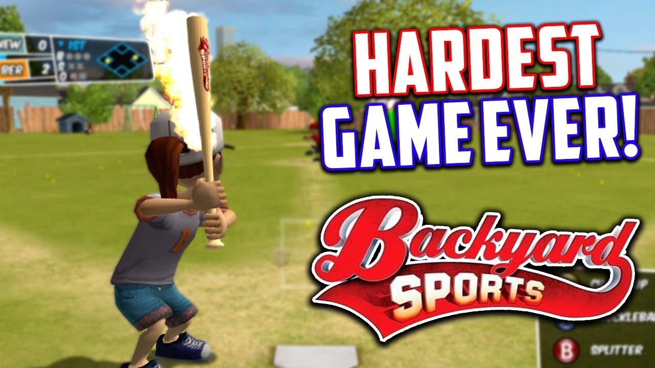 Awesome THE HARDEST BASEBALL GAME EVER! Backyard Sports : Sandlot Sluggers