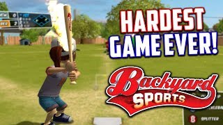 THE HARDEST BASEBALL GAME EVER! Backyard Sports : Sandlot Sluggers