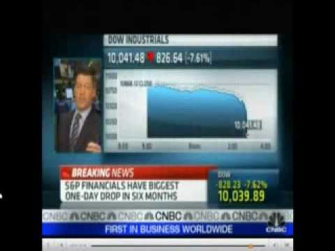 Stock Market Crash 5/6/10 (Live Panic!) Incredible!!