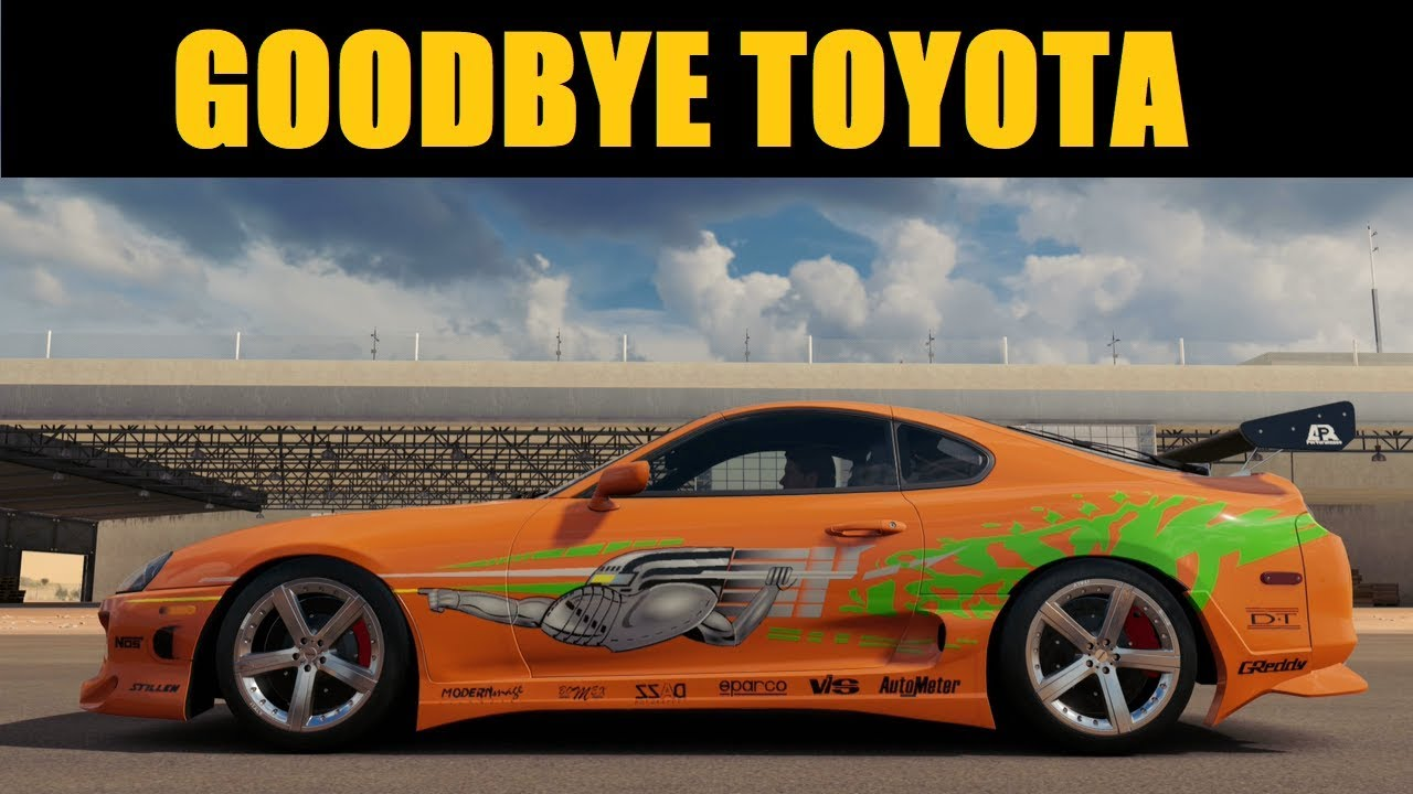 goodbye toyota forza motorsport 7 need for speed. Black Bedroom Furniture Sets. Home Design Ideas