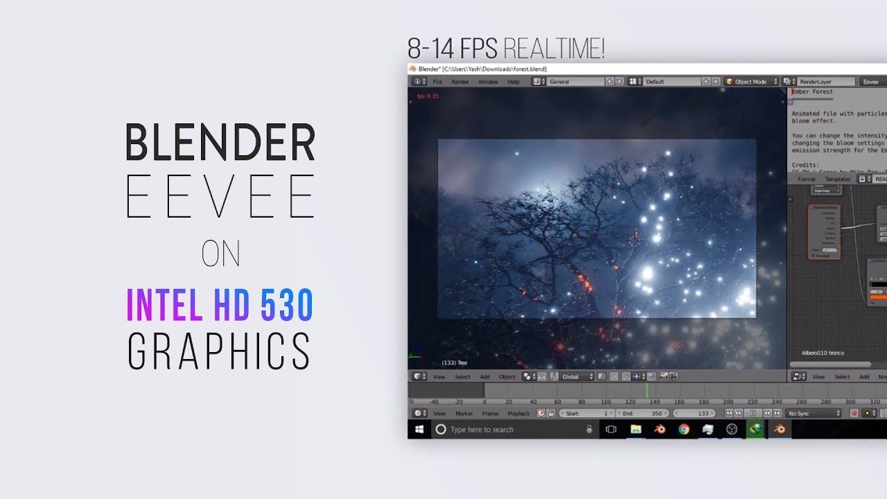 Run Blender EEVEE on Intel HD 530 Graphics | Blender Realtime Rendering  Engine
