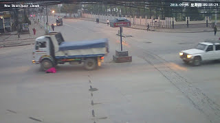 Most Dangerous accident CCTV Footage. tipper hit women at New Baneshwor |2017|