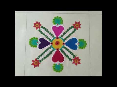 Creative Rangoli design ...