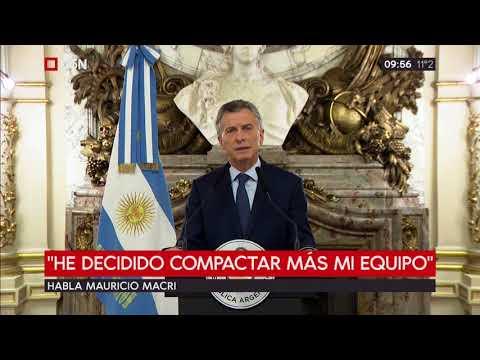 Mensaje de Mauricio Macri desde Casa Rosada 3/09/2018