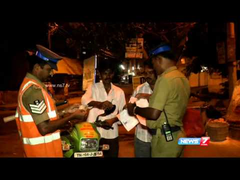 Life of police personnel on night patrol in Madurai